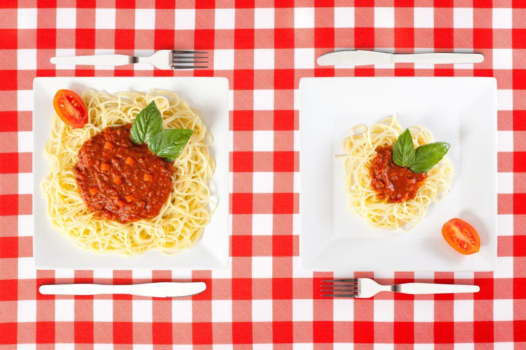 Подагра и порции еды