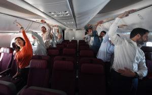 во время полета